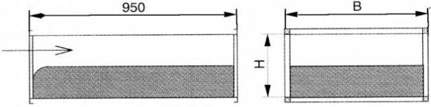 Triukšmo slopintuvai TSK, slopintuvo vidinė pertvara - perforuota skarda.