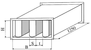 Triukšmo slopintuvai TSS, slopintuvo vidinė pertvara - perforuota skarda.
