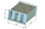 Triukšmo slopintuvai TSSV, slopintuvo vidinė pertvara - specialios mineralinės vatos demblys.