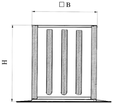 Triukšmo slopintuvai TSV, skirti stoginiam ventiliatoriam