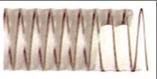 Poliuretaninės žarnos  PU-STANDARD, storis 0.6 mm.