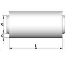 TSA: Triukšmo slopintuvas apvalus, tiesus. Izoliacijos storis 50 mm.