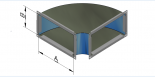 Alkūnės stačiakampės 90° SAL
